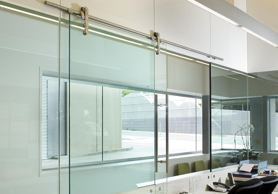 Sliding Glass Office Doors - Interior Design